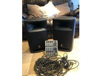 Yamaha active speakers & PV6 mixer desk