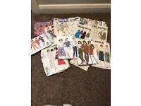 Selection of sewing patterns from 1980's Butterick, New Look, Style