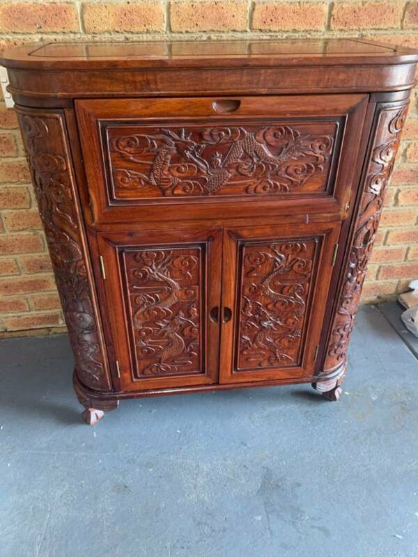 Antique Chinese Bar Cabinet