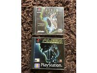 PlayStation 1 alien games. Ps1