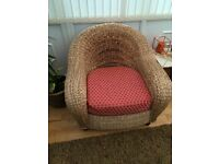 Lovely wicker chunky conservatory chairs x2