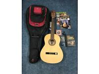 Hofner HF11 classical guitar with lots of extras.