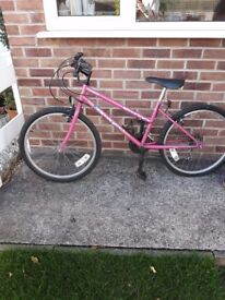 girls bike, 24 inch wheels, Shimano Dverize