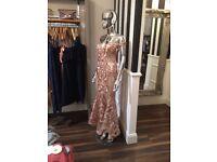 Rose gold dress suze 10