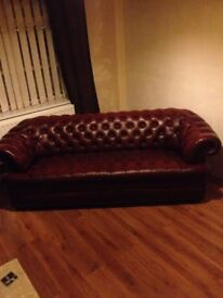 Balmoral Chesterfield Sofa and Club chair for sale