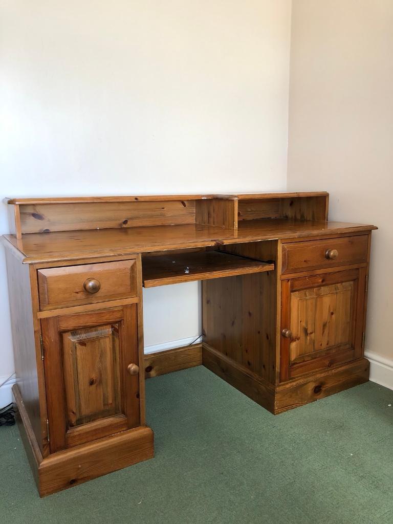 pretty nice fac46 449f7 Solid Pine Computer Desk | in Llanelli, Carmarthenshire | Gumtree