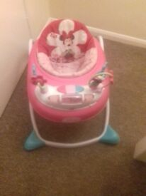 Pink mini mouse walker