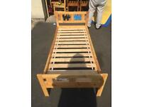 Pine toddler bed with mattress