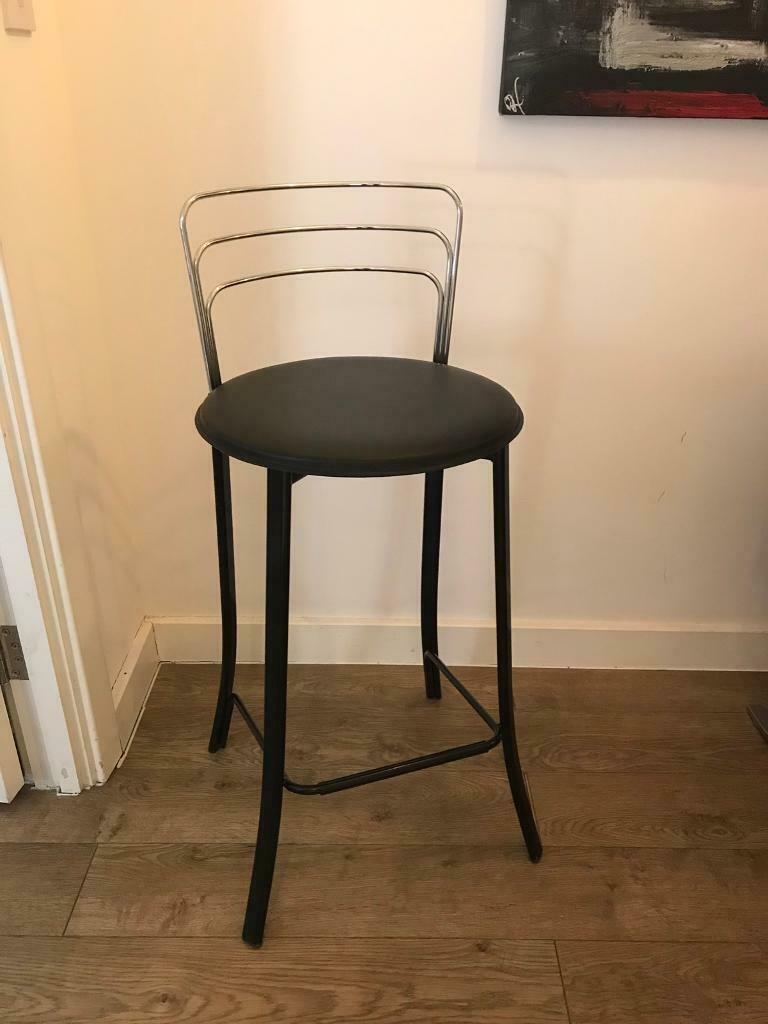 Phenomenal Lovely Bar Stool Real Black Leather And Chrome Call 07757671484 In Wandsworth London Gumtree Pdpeps Interior Chair Design Pdpepsorg