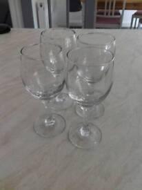 4 small wine/ port/ sherry glasses