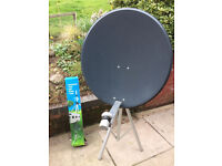Satellite dish 80cm and tripod