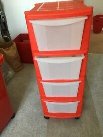 Argos 4 Tier Red Storage Unit