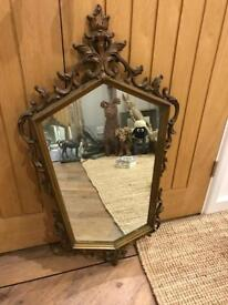 Beautiful Gold Style Shaped Mirror