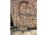 Wrought Iron Garden Gate with hinges and pins