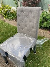 Brand new set of six next fabric dining chair