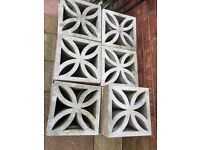 Decorative concrete blocks for garden wall etc