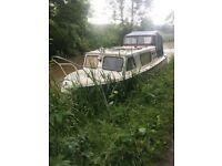 Canal cruiser boat