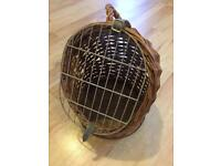 Wicker Cat Carrier Small Dog Carrier