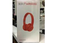 brand new boxed solo 3 wireless beats citrus red