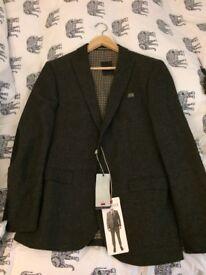 Next men's grey slim fit blazer 40R