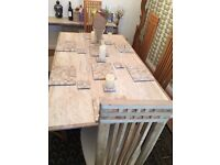 Marble Dining Table 6 Dining Chairs Side table 1 large and 1 small coffee table 2 Sideboards