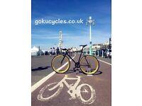 SALE ! GOKU cycles Steel Frame Single speed road bike TRACK bike fixed gear bike racing bike Q9