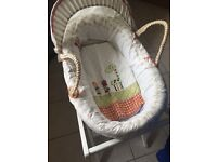 Mamas & Papas. Jamboree Collection. Moses basket. Excellent condition, used for 4 weeks.