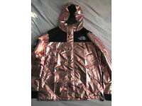 Supreme x north face jacket hoodie coat reflective rose gold bape off white