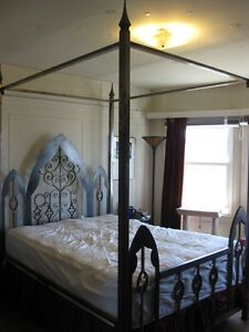 Gothic Metal Four Poster Bed Frame Ebay
