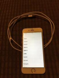 iPhone 6 silver 16gb unlocked I believe with box ect and new original headphones