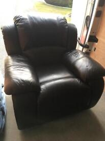 Ultimate Black Faux Leather Lazy Boy Arm Chair £70 or near offer