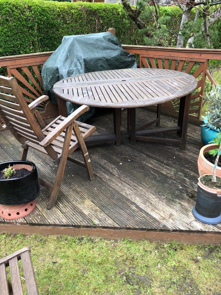 Hardwood garden furniture