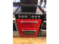 STOVES 55CM CEROMIC TOP ELECTRIC COOKEE IN RED