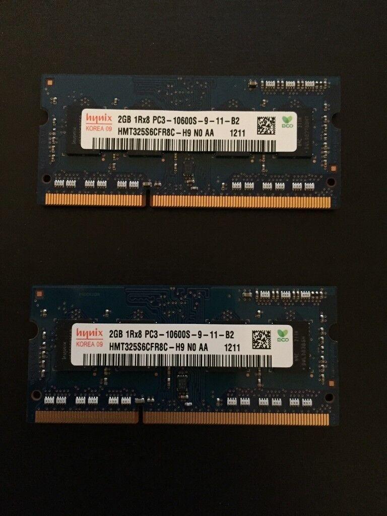 2 X 4 Gb Laptop Memory Hynix 204 Pin Sodimm Ddr3 Pc3l 12800 Ddr 3 1gb Pc Ram Needs Go 2gb Hmt325s6cfr8c