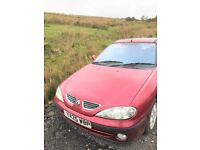 Very Clean Renault Megane in good running order with MOT and new brakes.