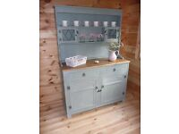 Oak Dresser hand painted in Annie Sloan Duck Egg (Shabby Chic Style)