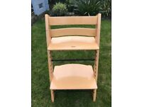 Stokke Tripp Trapp Chair in natural colour. In good condition.