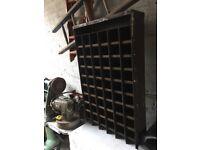 Retro Industrial Pigeon Hole Racking / Shelving / Bar / Bistro / 55 Shelves