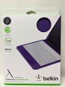 NEW, Belkin QODE Slim Style Keyboard and Case for iPad Air (Purple)
