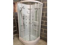 Like new 900 shower cabinet with body jets