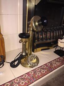 Rotary antique dial telephone