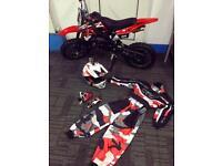 Mini dirt bike and gear