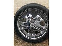 20 inch Cruz chrome alloy wheels fit Chrysler