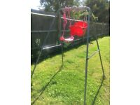 OUTDOOR SWING IN EXCELLENT CONDITION WITH TWO DIFFERENT SEATS BARGAIN!!!!!!!