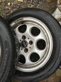 4x100 15inch Mini Cooper alloy wheels