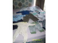 Baby clothes 0-6 months for boy-50 pieces for 0.50p- each