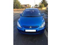 Peugeot 2003 307 S 5 door blue petrol hatchback 1360cc 74900 miles - spares or repair