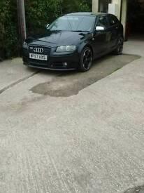 Black Audi a3 s-line 2.0 tdi , 6 speed