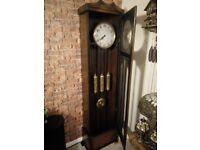 1920 oak westminster chime grandfather long case clock