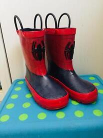 Spiderman Wellington Boots, Spider Man Wellies - Size 10 - EU 28